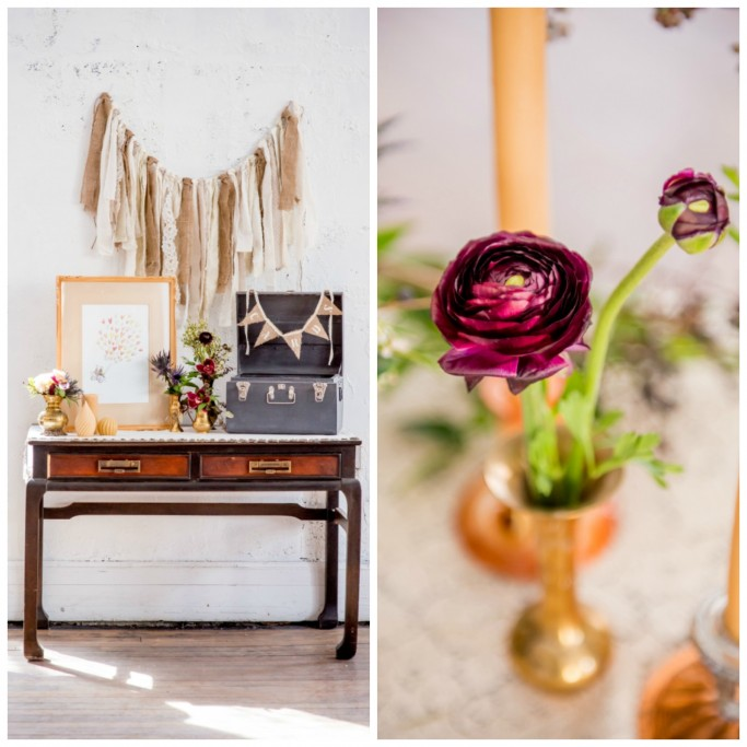 Fall Wedding Inspiration Shoot card table