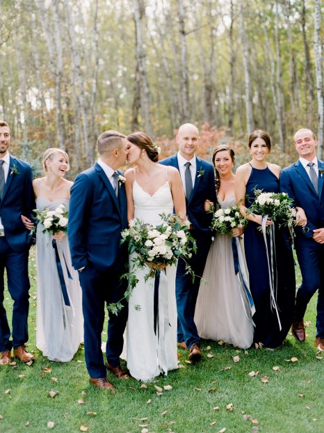 White and blue bouquet by Oak & Lily Flowers Photo by Brittany Mahood br-wedding197