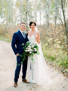 White and blue bouquet  by Oak & Lily Flowers Photo by Brittany Mahoodbr-wedding343