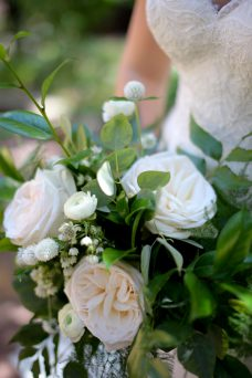 White Green Wedding Bouquet Oak & Lily