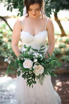 White Green Wedding Bouquet Oak & Lily D&L-279