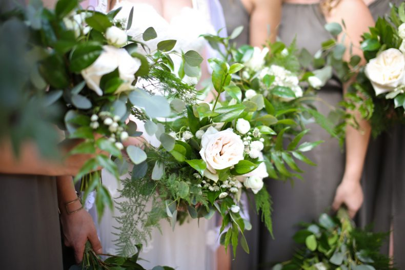 White Green Wedding Bouquet Oak & Lily D&L-73