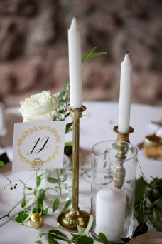 White Green Wedding Vine Centerpiece Oak & Lily D&L-363