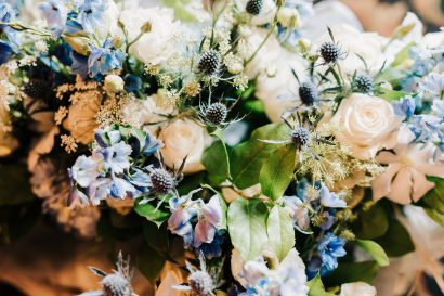 Winnipeg Summer Wedding Flowers Blue and White by Oak & Lily 2017 2