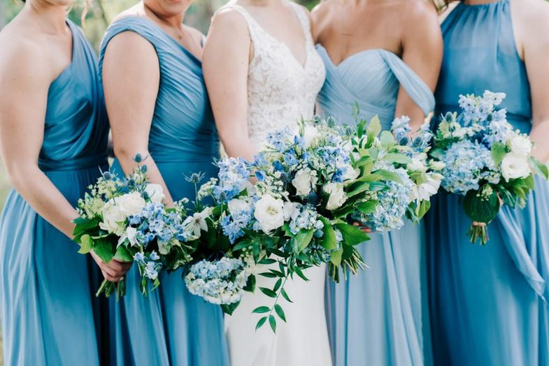 Winnipeg Summer Wedding Flowers Blue and White by Oak & Lily 2017 25
