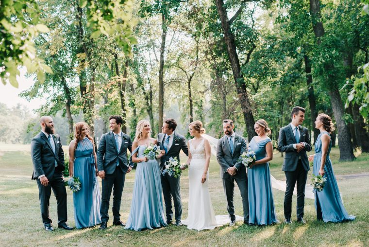 Winnipeg Summer Wedding Flowers Blue and White by Oak & Lily 2017 6