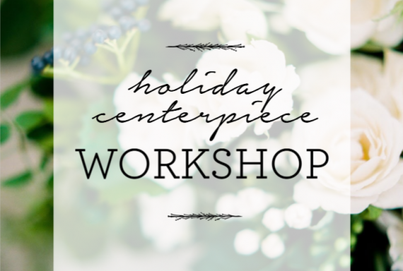 oak and lily holiday centerpiece workshop 2018