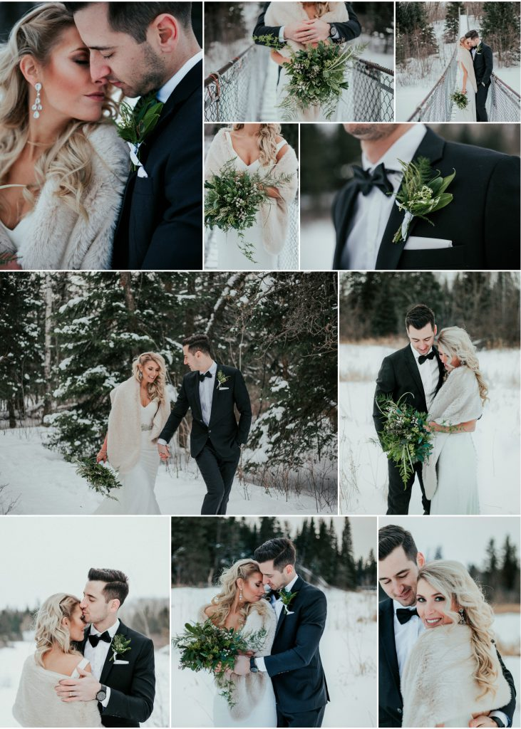 Winnipeg Winter Wedding Winter Bouquet
